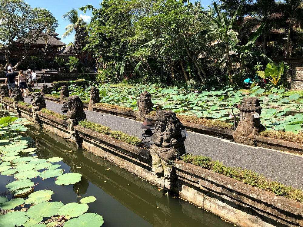 This pathway bisects the lotus pond and leads to the temple