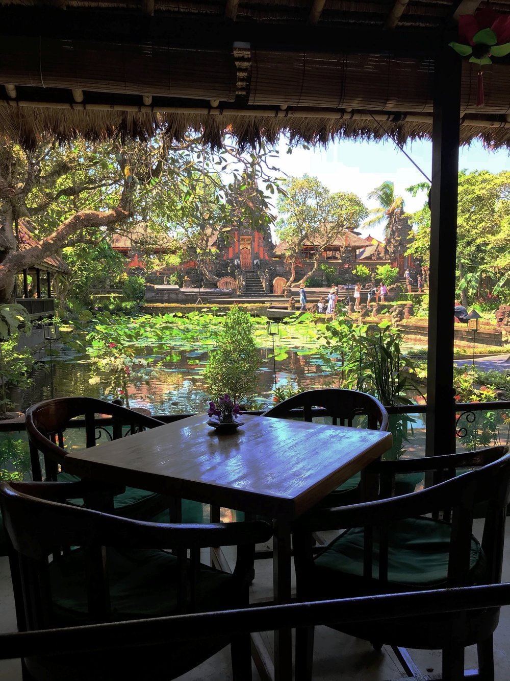 Grab a bite at Cafe Lotus and admire the view