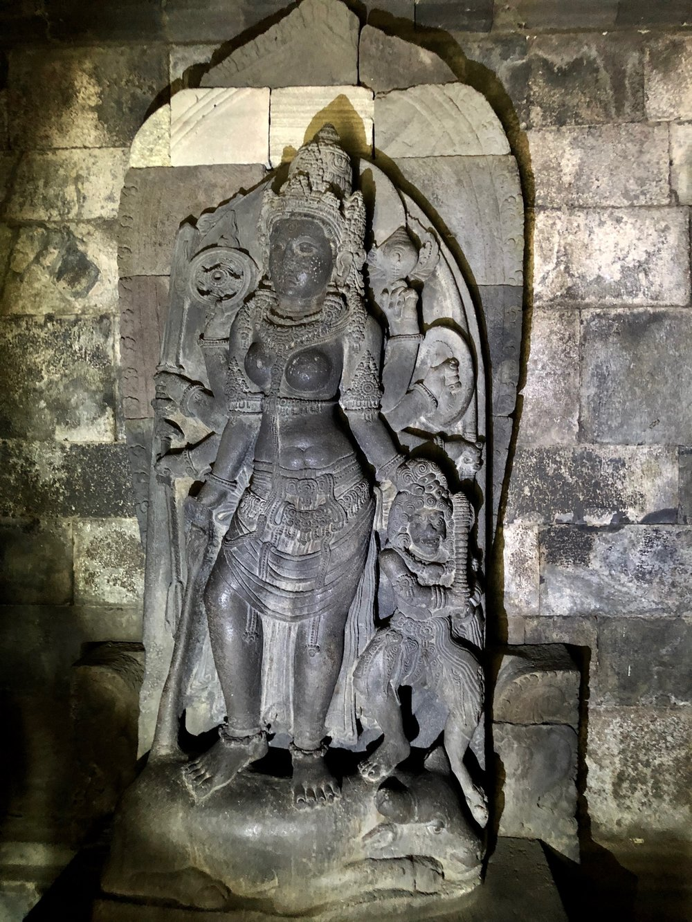As punishment for her deceit, the princess became the statue of Durga in the Shiva Temple at Prambanan