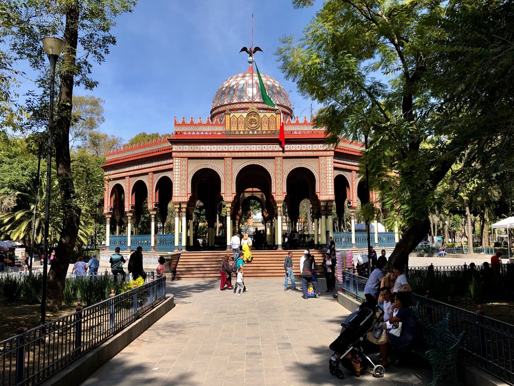 The Moroccan Pavilion is a fun place to spend part of an afternoon wandering Mexico City