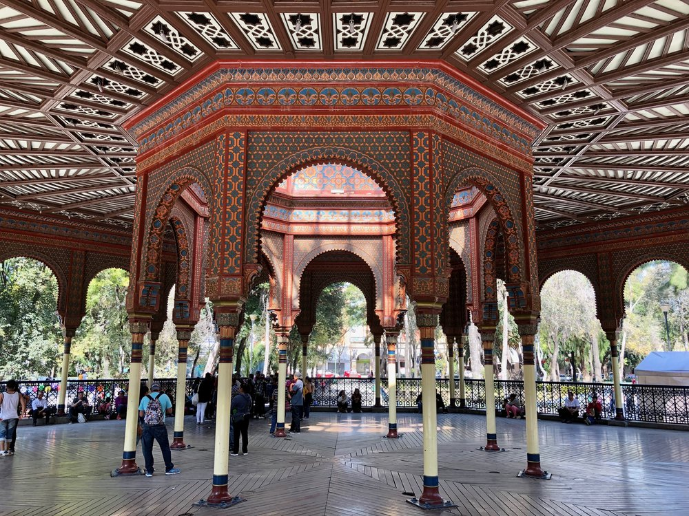 The pavilion is the centerpiece of Santa María la Ribera Park