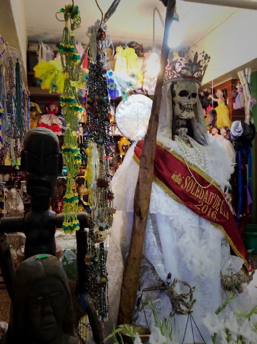 The Catholic church isn't fond of Santa Muerte and has called her worship blasphemous