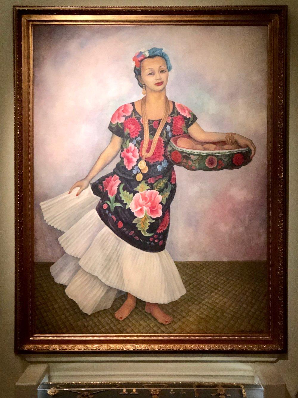 Diego's  Portrait of Dolores Olmedo (La Tehuana),  1955