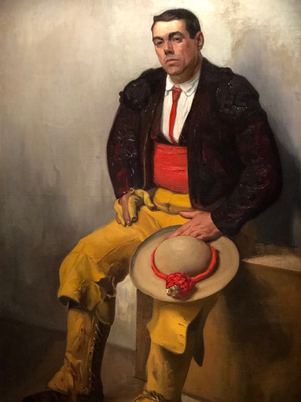 El Picador , a painting of a seated Spanish bullfighter, shows the influence of Diego's time in Spain under the tutelage of one of Madrid's leading portrait painters, Eduardo Chicharro