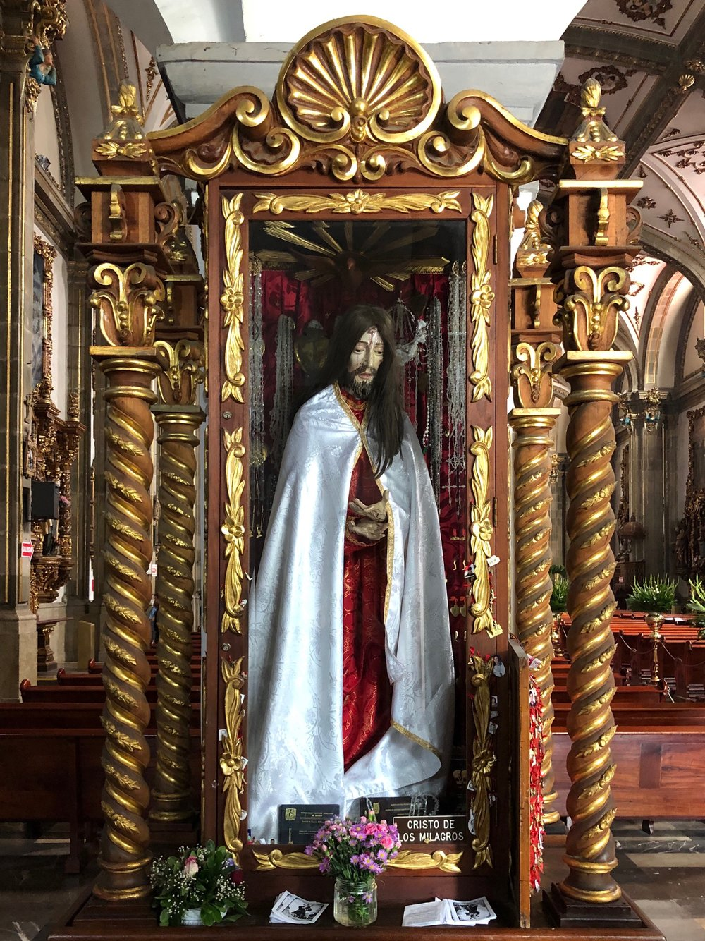 The creepy, life-size Cristo de los Milagros