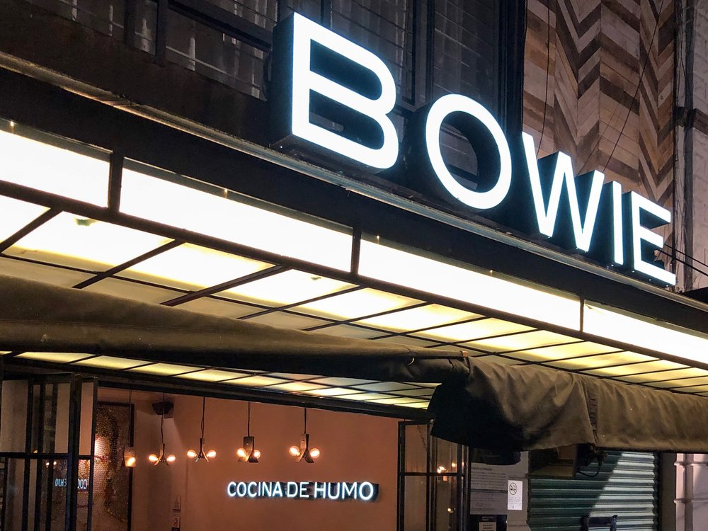 Grab a bite at Bowie — especially if you're in the Roma neighborhood of Mexico City