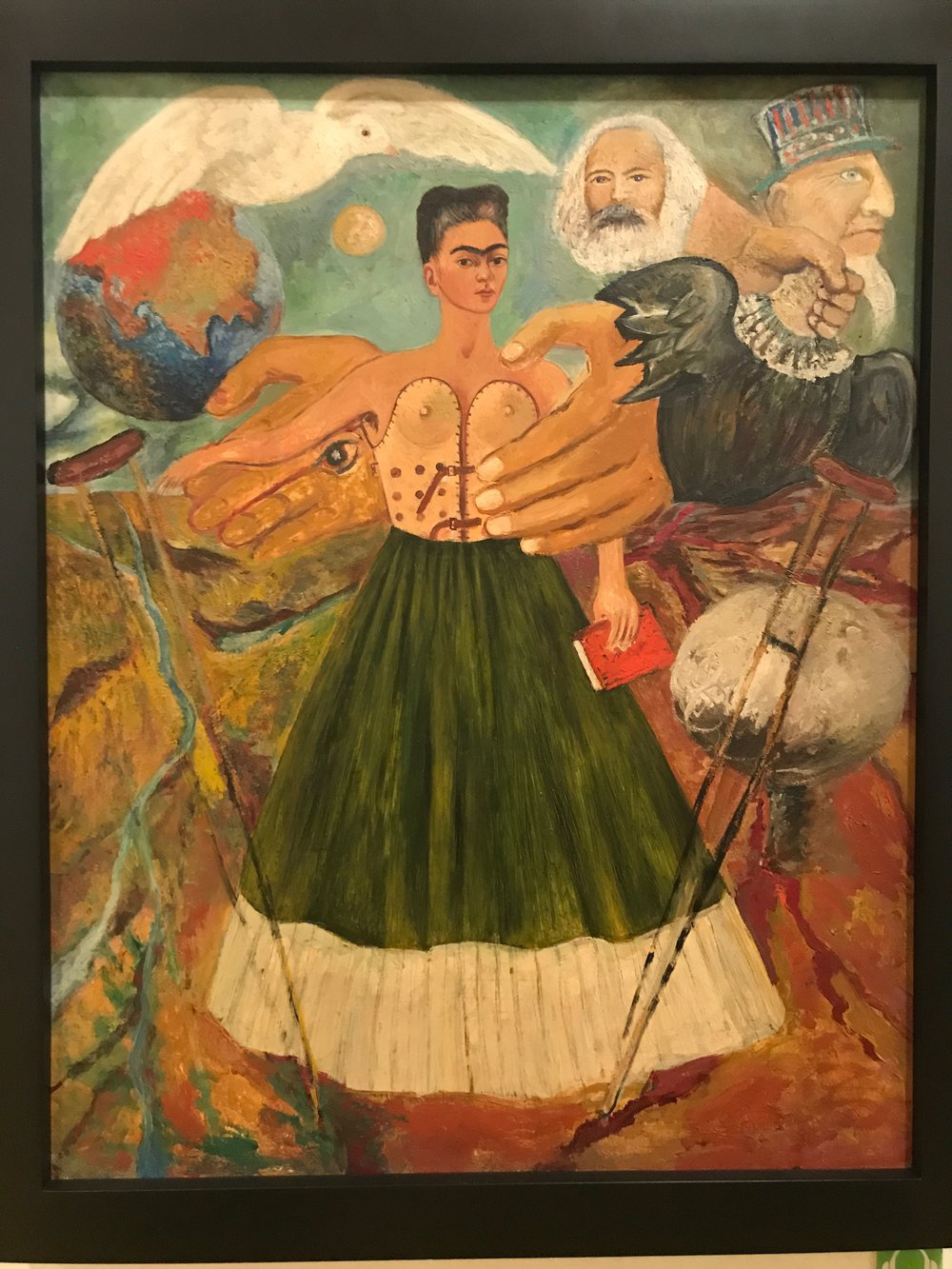 Marxism Will Give Health to the Sick  by Frida Kahlo, 1954