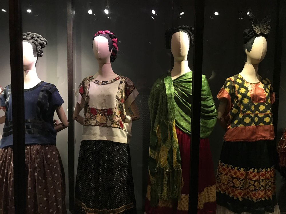 An outbuilding houses some of Frida's distinctive outfits
