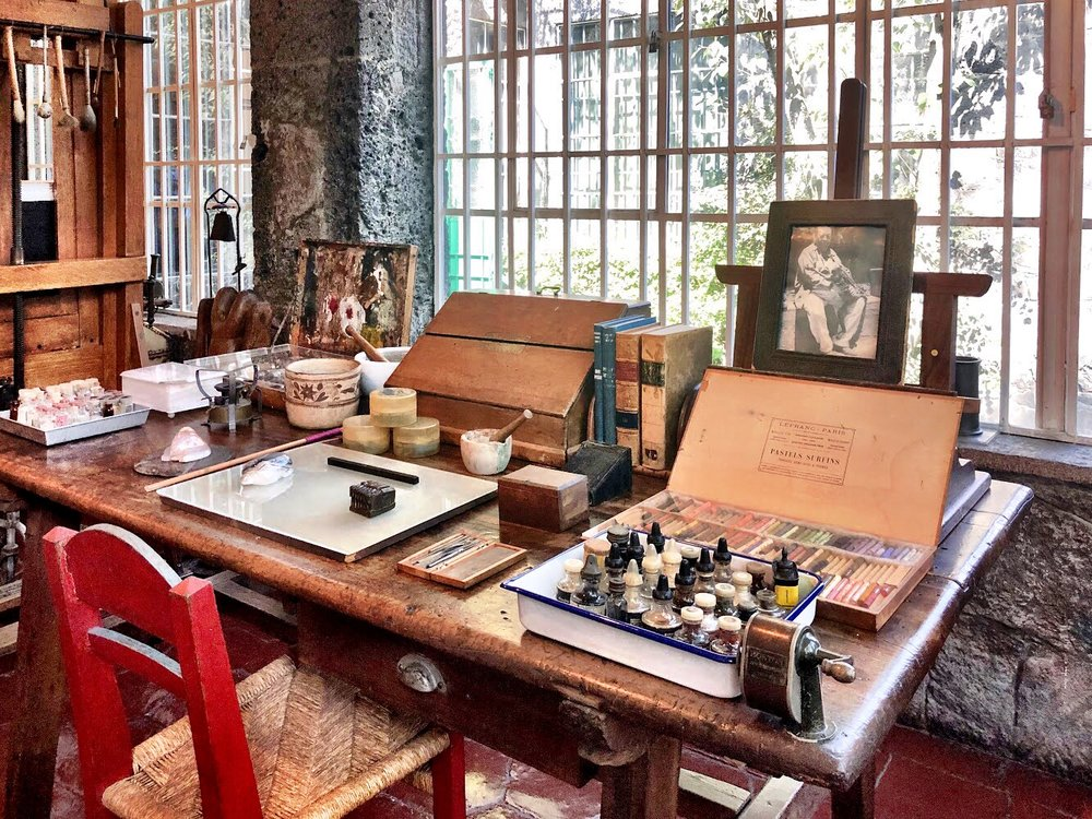 Frida's work table: where the magic happened