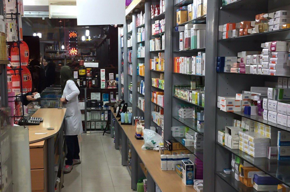 Despite shortage of high-quality Western medication, pharmacies are stocked with Iranian-made alternative drugs. Shiraz, Iran. Photo by Akhtar Karimi.