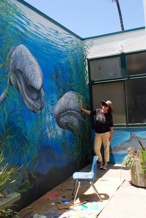 Kathleen Keifer Malibu artist Kathleen Keifer has been spending her summer restoring murals at Webster Elementary School.
