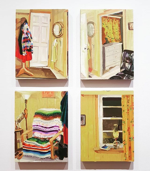 The many rooms of  @keiran.brennan.hinton . . . #room #painting #painter #oilpainting #architecture #interior #canandianart #canadianartist #torontoart #toronto #canada