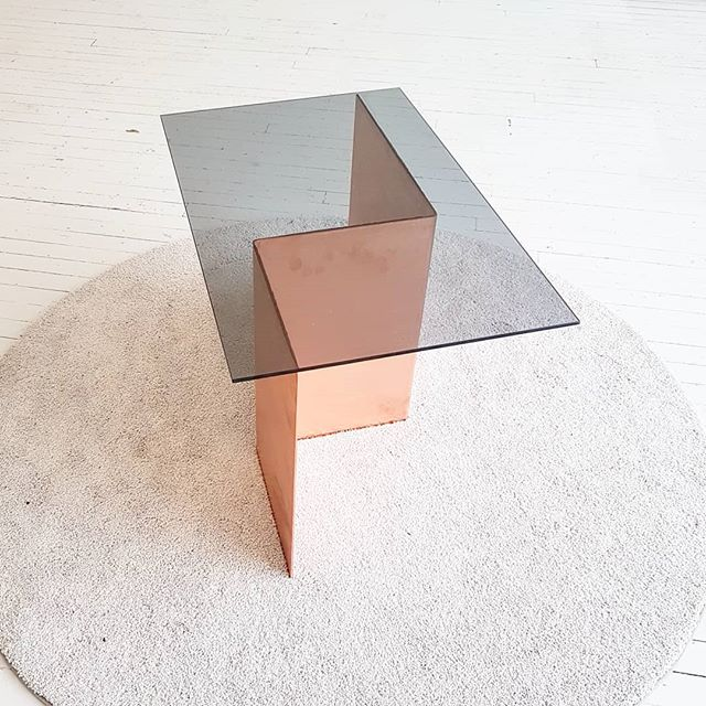 When geometry is an aesthetic. . . . #tfw #designto19 #muke #furniture #geometry #table #industrialdesign #material #designer #want
