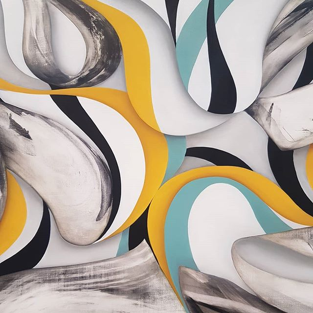 Detail of a new work by Lesley Vance . . . #lesleyvance #tribeca #tribecagallery #contemporaryart #abstract #painting #painter #artist #newyork #independentny2018