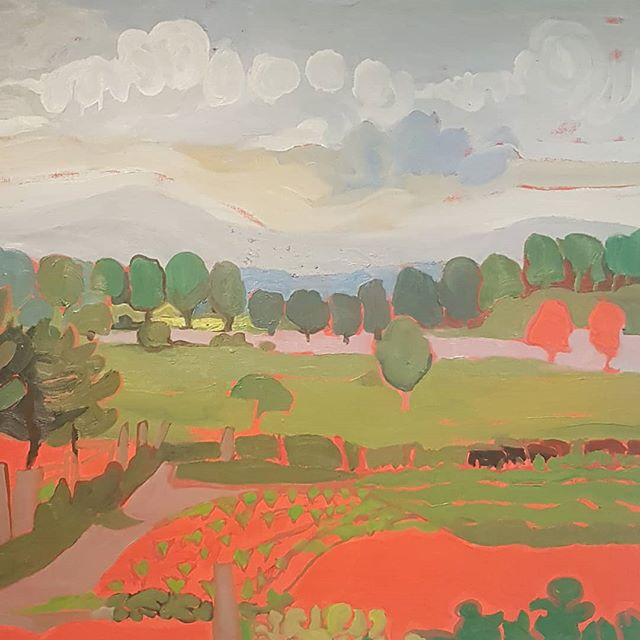 Joyce Frances Devlin, Strathmere, Windy Day ,1975 . . . #canadianart #painter #landscape #painting #ottawa #artist #tbt #instaart #artoftheday