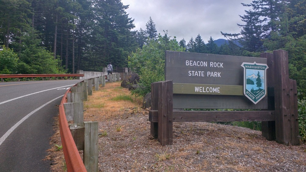 Beacon Rock State Park welcome sign
