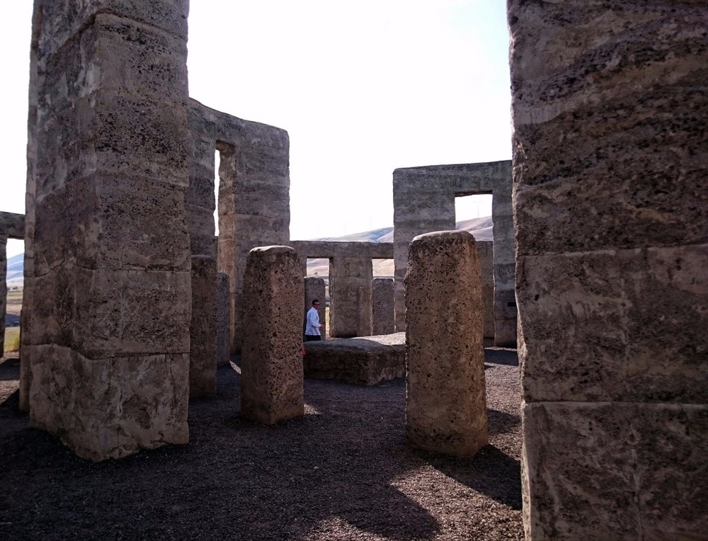 Inside the Stonehenge replica