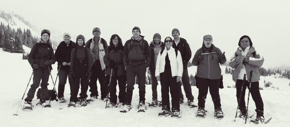 Group photo from the top of ridge