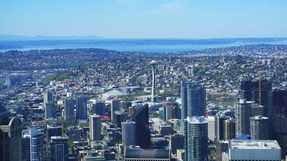 The Space Needle is roughly half as tall as Sky View Observatory