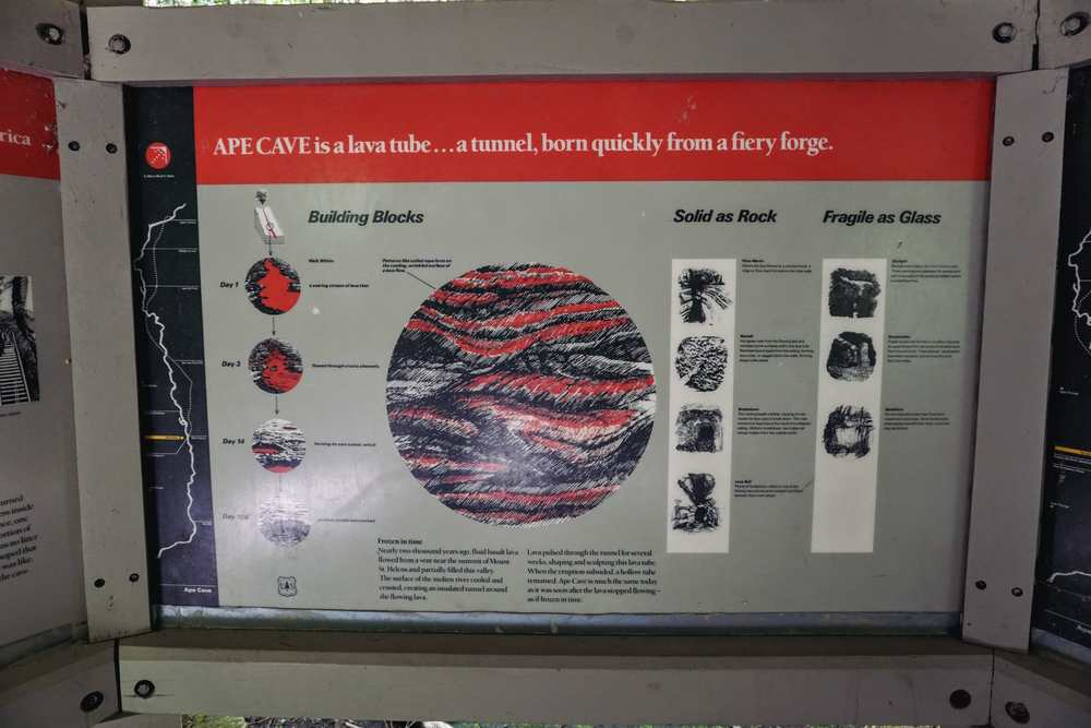 Ape Cave Info Board 1