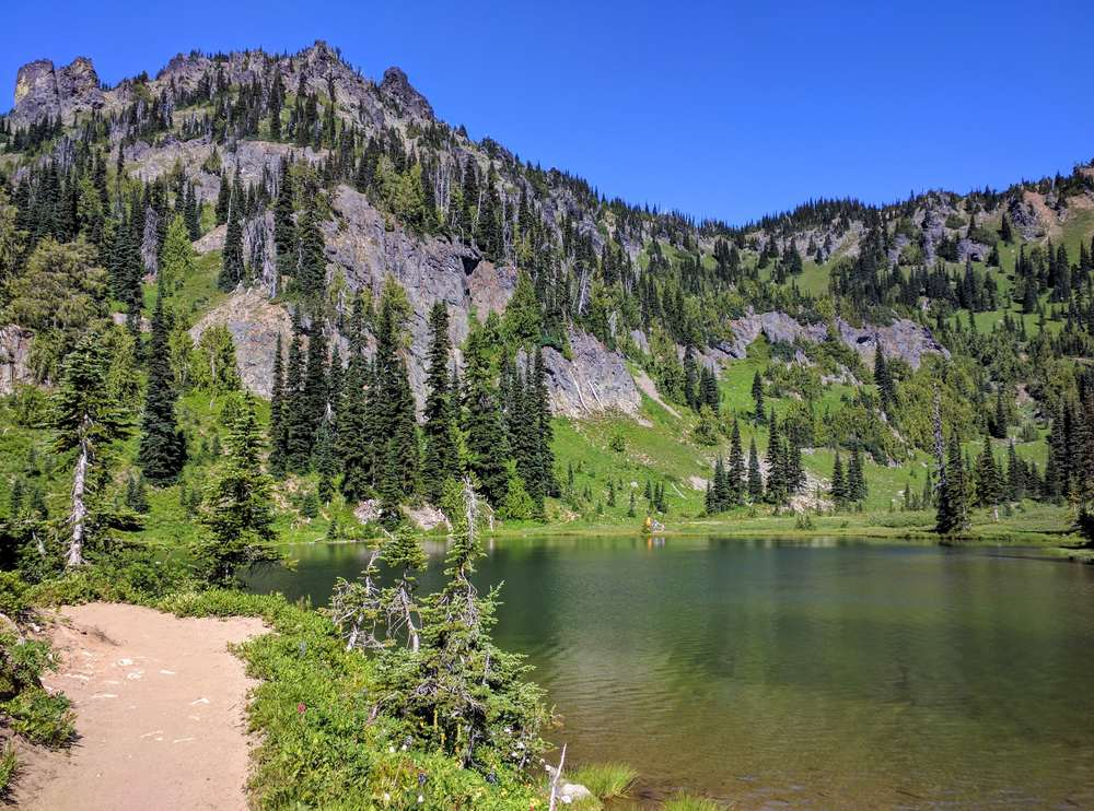 Hiking to Sheep Lake