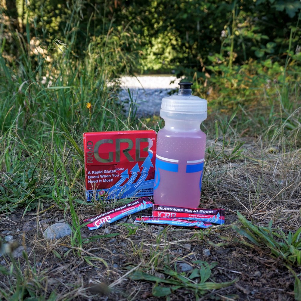 Ready to Drink Glutathione Rapid Boost (GRB) During a Hike
