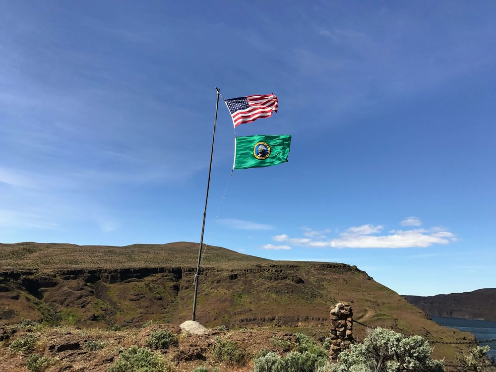 Strong Winds at Ginkgo Petrified Forest State Park
