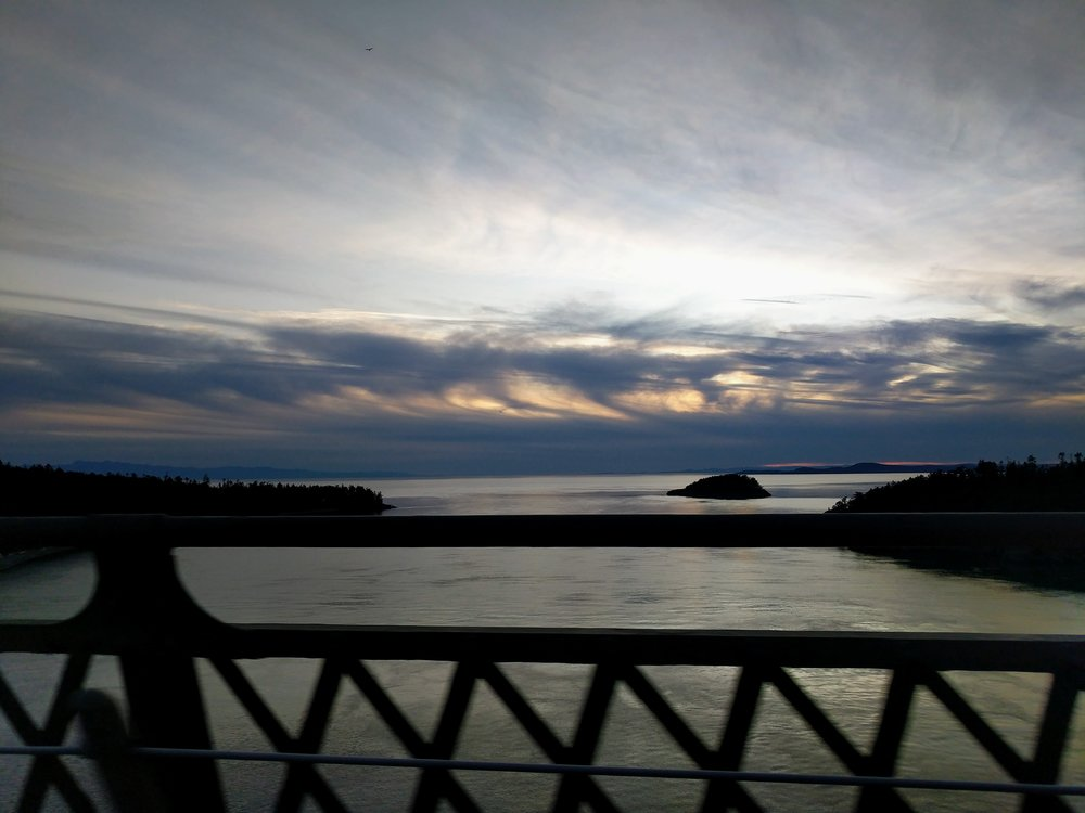 Sunset over Deception Pass