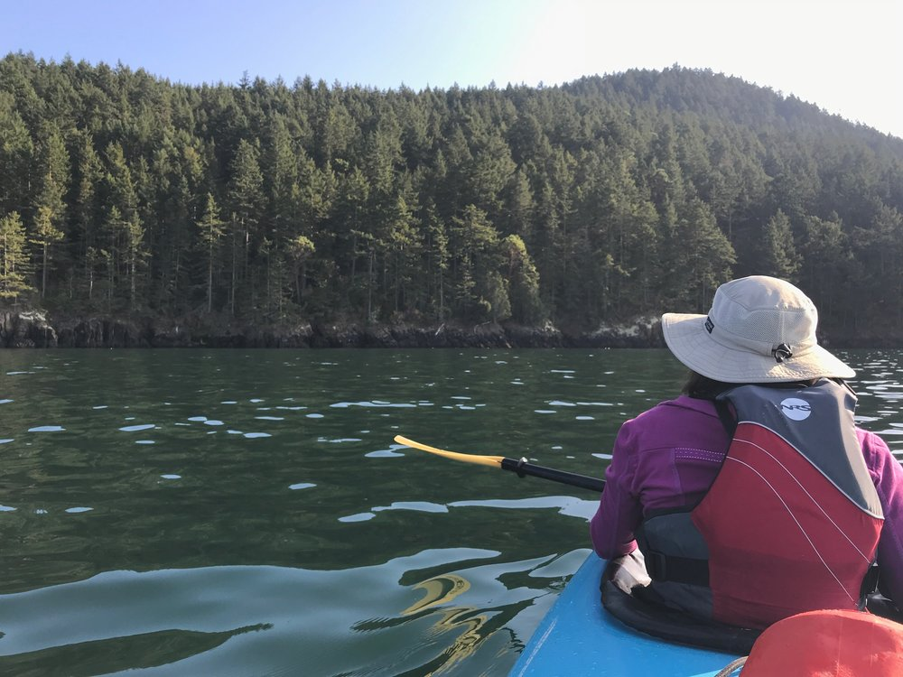 On the water with Anacortes Kayak Tours
