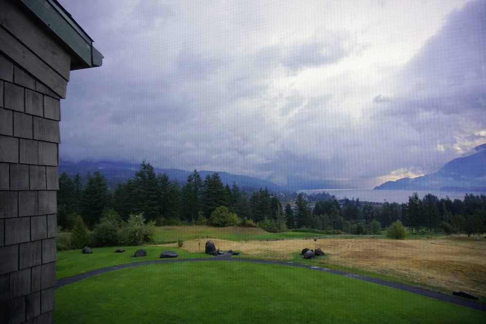 Early morning view from Skamania Lodge