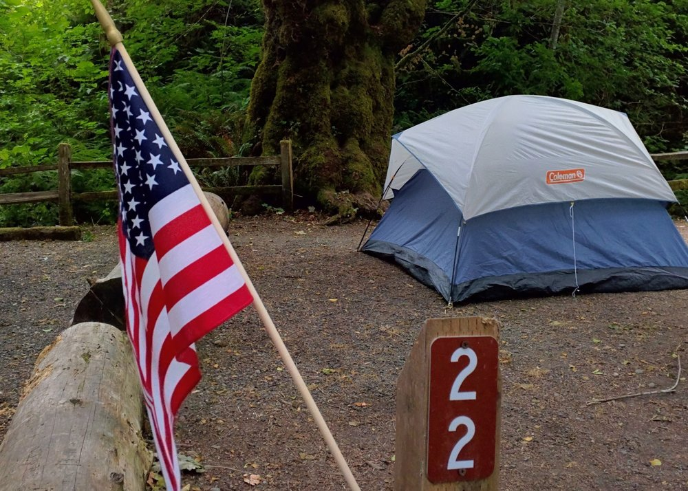 Camping at Potlatch State Park