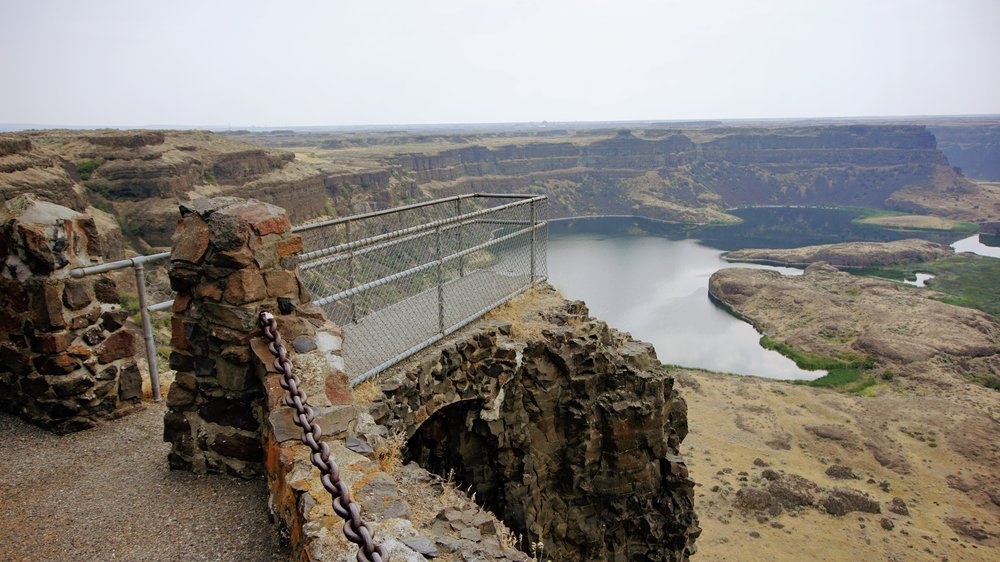 View of Dry Falls from Visitor Center