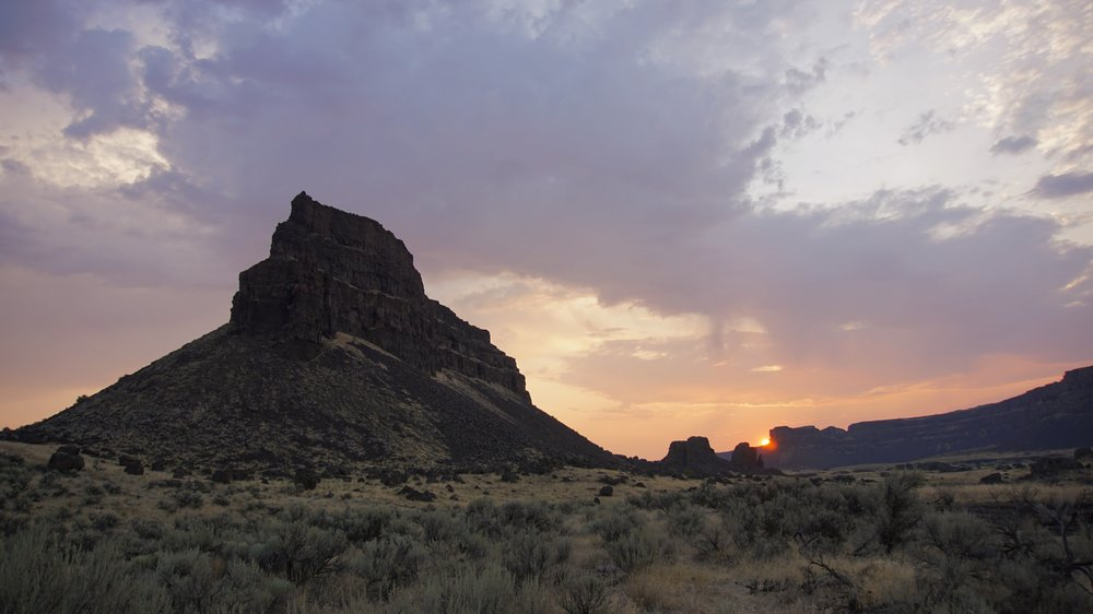Umatilla Rock at sunrise