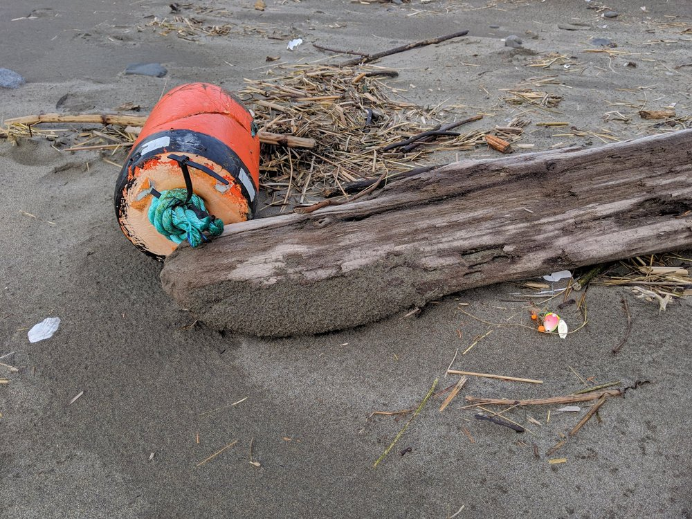Washed up items from the Pacific