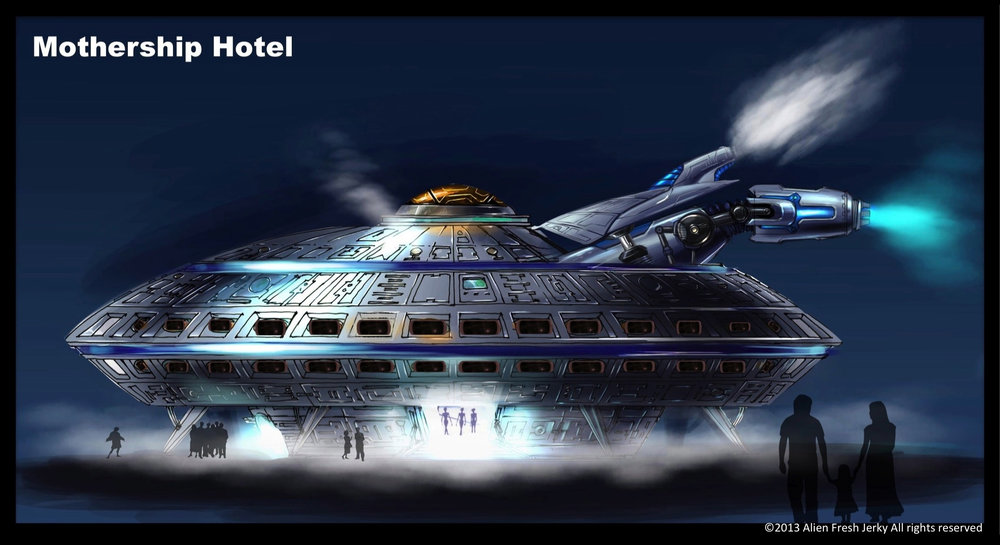 The UFO Hotel in Baker, California