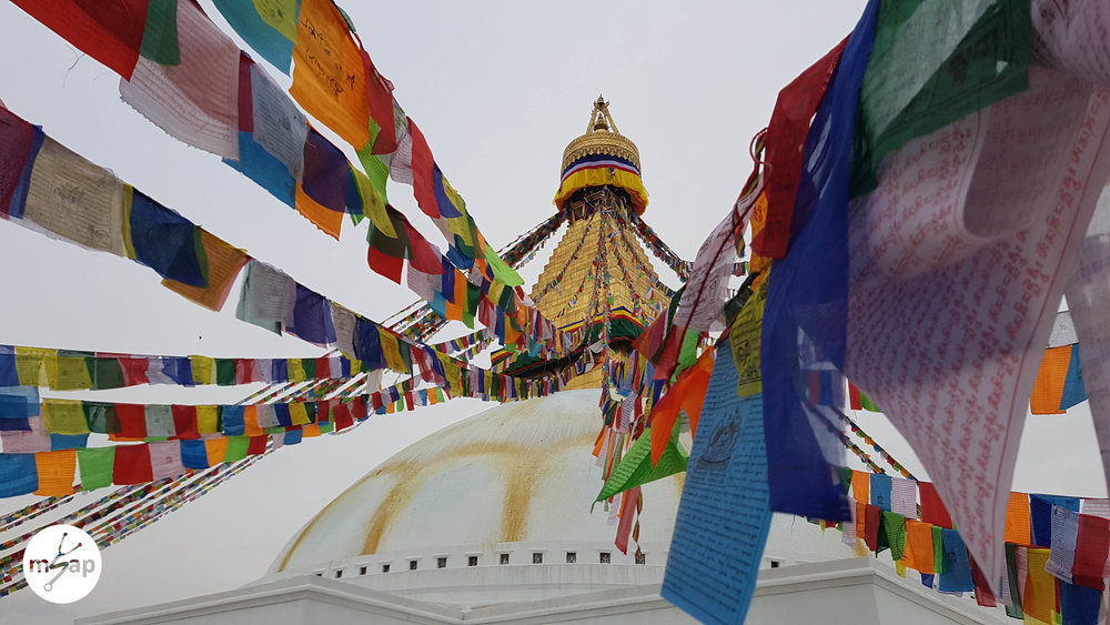 Prayer Flags of Boudhanath Stupa - Sam Roberts