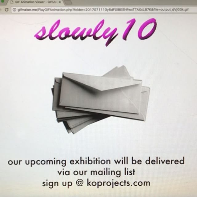 Our upcoming exhibition 'MAKING CONTACT' curated by @st3phvidal and @ca.traz will run from the 17/07 to the 28/07 and will be delivered via our mailing list; 10 emails, 10 days 📆 Sign up at www.koprojects.com 📬| #Slowly10 #artexhibition #curation #curator #contemporaryart #fineart #art #arte #artists #digitalart #koprojects #exhibition #email #mailinglist #collaboration #gif #envelope
