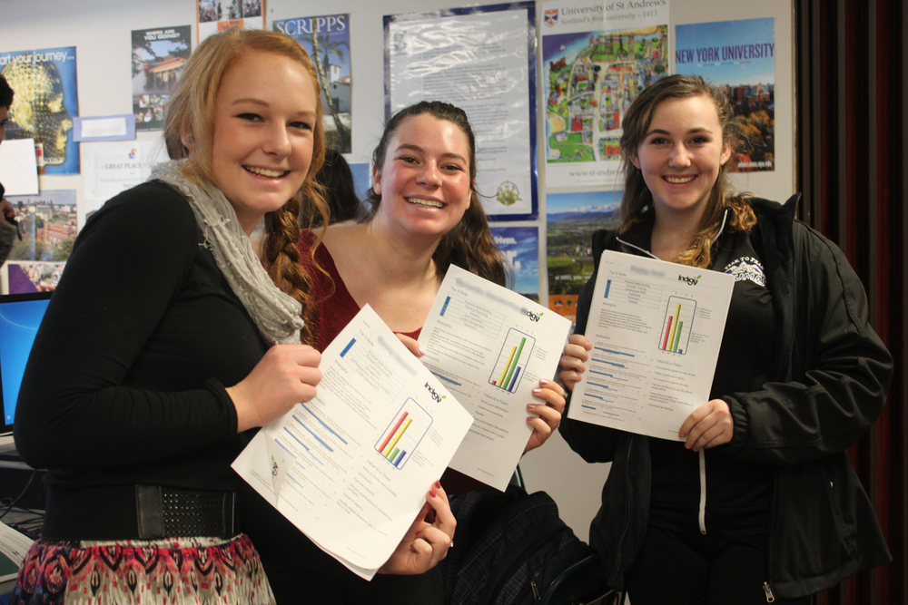 Three P2P Students Holding Report (B-N).jpg