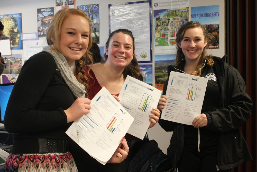 Three P2P Students Holding Report (B-N).jpg