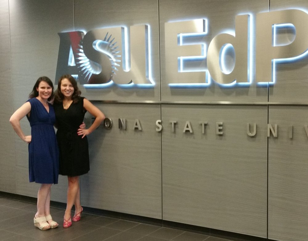 Indigo Director of Advising, Sueann Casey and CEO, Sheri Smith at ASU EdPlus Headquarters in Scottsdale, AZ