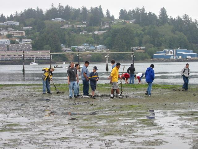 Mudflats at Hatfield Marine Science Center