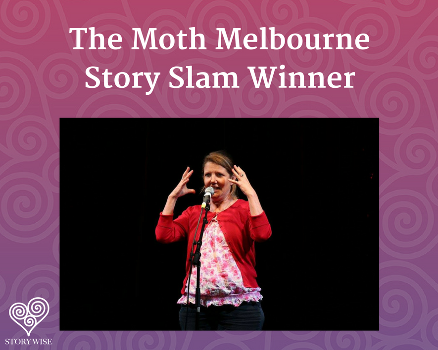 Kate Lawrence - the Moth story Slam winner - melbourne