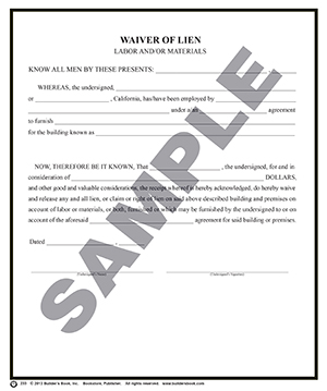 Lein Waiver