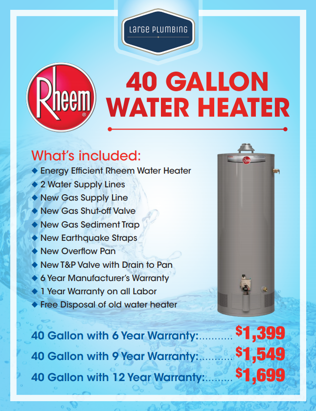 40 Gallon Water Heater Installation