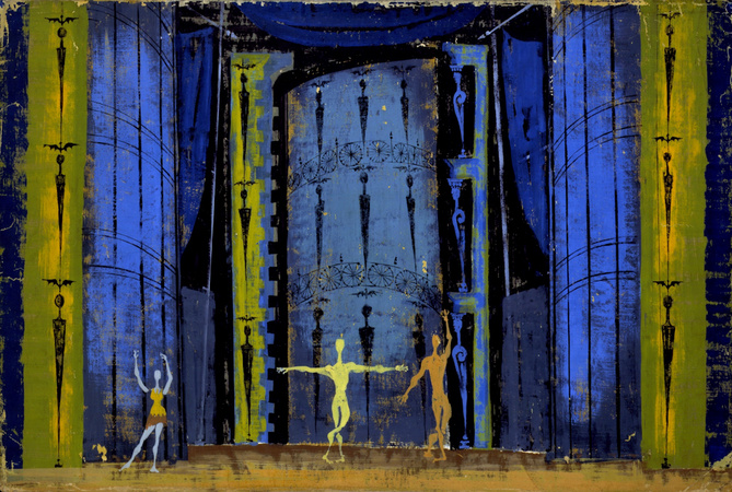 Danses Concertantes (1955), set design Nicolas Georgiadis.