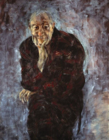 Kenneth MacMillan painting in oils by Deborah MacMillan 1992
