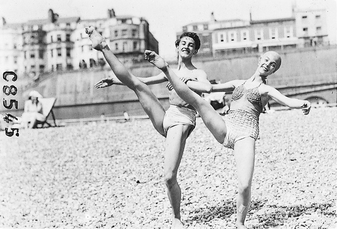 Kenneth and friend on Brighton beach