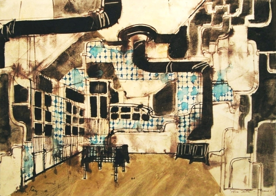 Set drawing for Miss Julie ©Barry Kay Archive