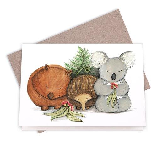Native australian babies with koala echidna and wombat greeting native australian babies with koala echidna and wombat greeting card m4hsunfo