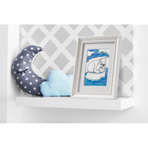 Polar bear and cub nursery wall art print